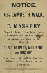 Advert For F. Maskrey, Draper
